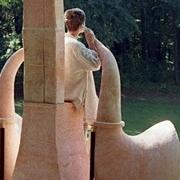 """Skulptur anlässsslich des Festivals """"was hoeren wir"""" im Landschaftspark Kaditzsch"""